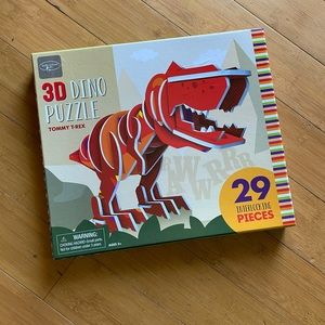 NWT Kathy Ireland Kids 3D Dino Puzzle Tommy T-Rex